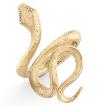 ole lynggaard Ole lynggaard 18 kt snake ring - a2673-401 størrelse 52 fra brodersen + kobborg
