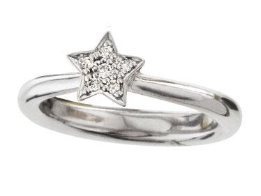 Ole Lynggaard Stars ring i hvidguld - A2739-501 HV 6 dia ialt 0,09 ct 55