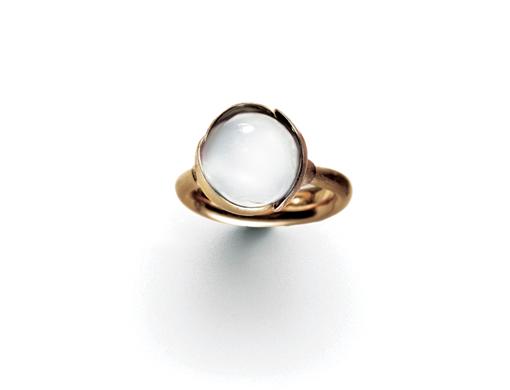 Ole Lynggaard Lotus ring str. 2 hvid månesten - A2651-406 Hvid månesten 50