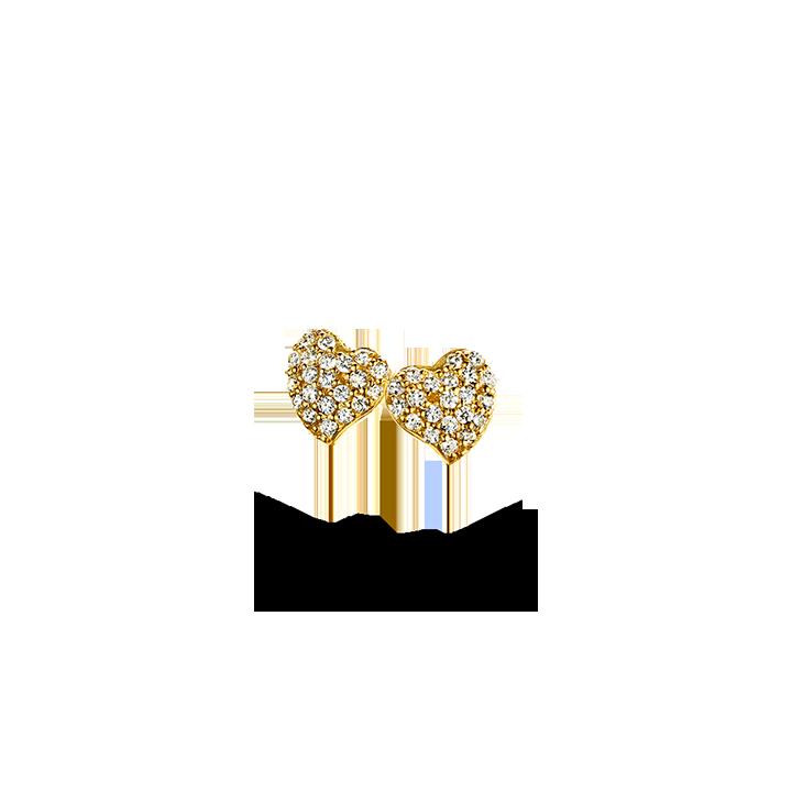Image of   Spirit Icons glowing heart ørestikker - 40012