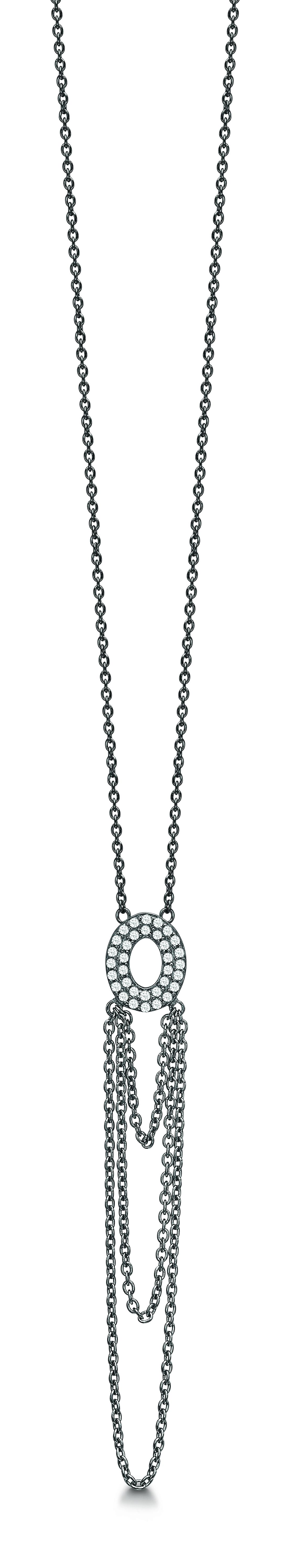 STORY Sølv vedhæng med kæde - 6903199-45