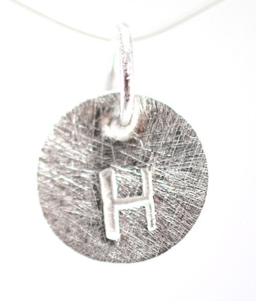 Sølv vedhæng med bogstav - 1511-1-H