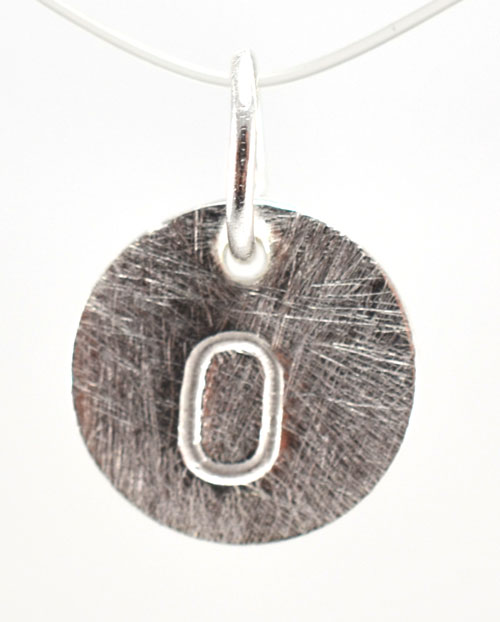 Image of   Sølv vedhæng med bogstav - 1511-1-O