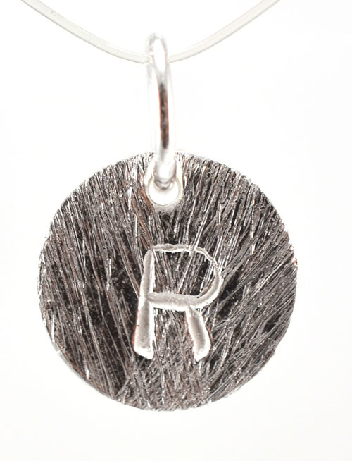 Sølv vedhæng med bogstav - 1511-1-R