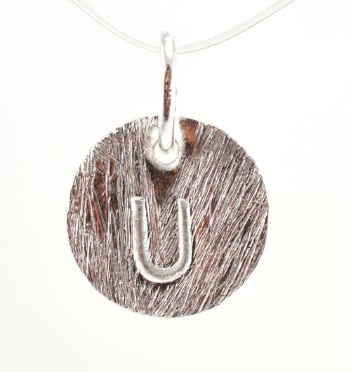 Image of   Sølv vedhæng med bogstav - 1511-1-U