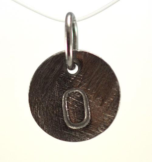 Image of   Oxideret sølv vedhæng med bogstav - 1511-3-O