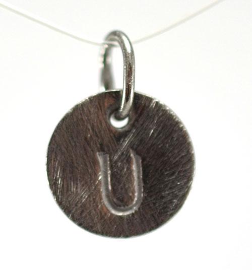 Image of   Oxideret sølv vedhæng med bogstav - 1511-3-U