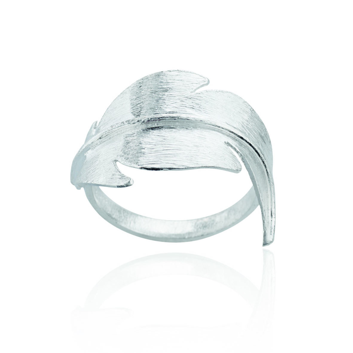 Image of   Sølv ring med fjer - 1654-1