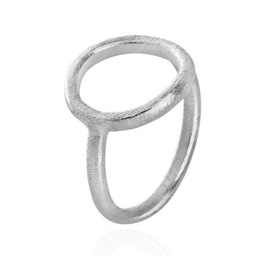 Image of   Sølv ring med cirkel - 1663-1 Størrelse 51
