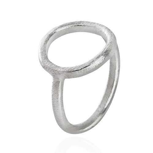 Sølv ring med cirkel - 1663-1 Størrelse 57