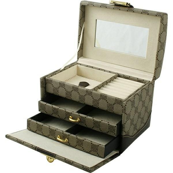 westpack – Smykkeskrin i beige stof - 02819040000 fra brodersen + kobborg